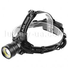 Налобный мощный фонарик Police BL-8004 T6+COB