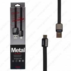 Кабель USB Type-C > USB Remax Platinum RC-044a, 1м black