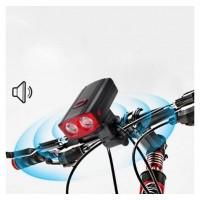Велозвонок + фара 581-A-2L2 5 режимов